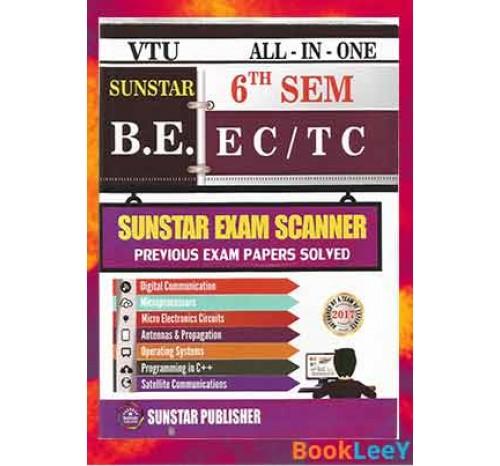 All In One Exam Scanner For ECE/TCE, 6th Sem, Sunstar [As Per Latest VTU Syllabus]